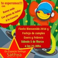 Fiesta Bienvenida 2016 y Festejos de cumples Enero y Febrero